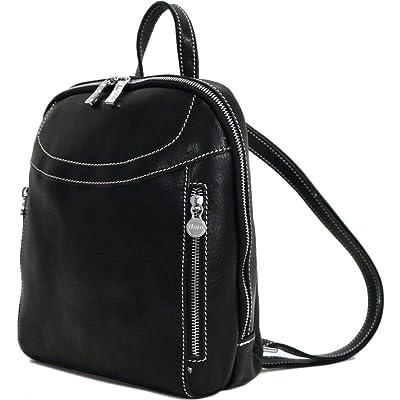 Lampara Full Grain Leather Backpack Knapsack 80%OFF