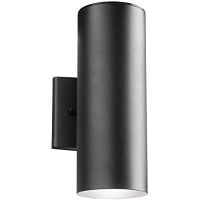 Kichler 11251BKT30, No Family Outdoor Wall Sconce Lighting LED, Textured Black