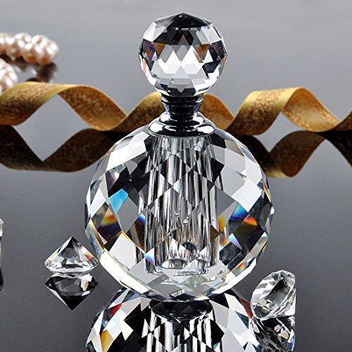 YUFENG 10ml Clear Vintage Crystal Empty Decor Mini Refillable Perfume Bottle ()