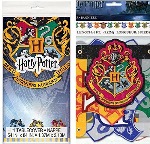 Wizard Party - Harry Potter Party Banner and Tablecloth set