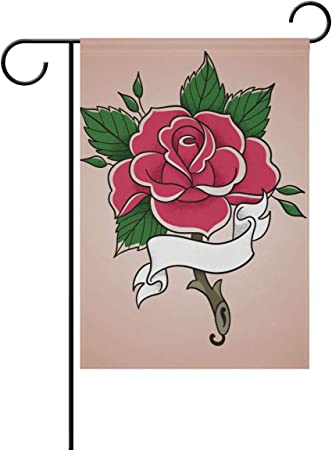Amazon Com Lilibeely Home Garden Flags Rose Flower Design Print