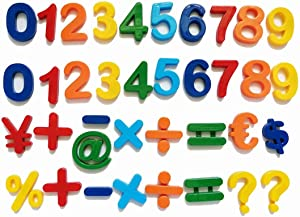 NSNSWA Magnetic Numbers, 20 Pieces Magnetic Alphabet Letters and 17 Pieces Symbols, Educational Alphabet Refrigerator Magnets