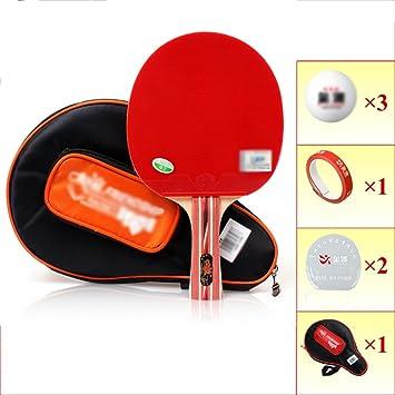 Ping pong juego de padel - 1 raquetas 3 bolas profesionales Paquete de tenis de mesa
