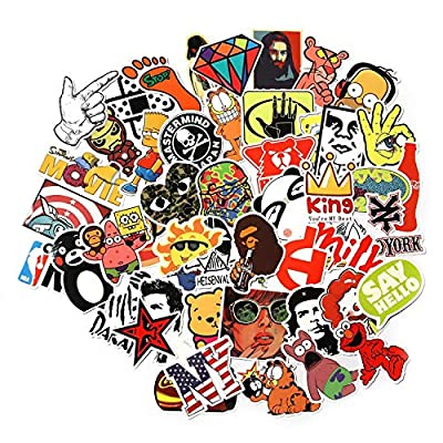 CHNLML Love Sticker Pack 100-Pcs,Cool Sticker Decals Vinyls for Laptop,Kids,Cars,Motorcycle,Bicycle,Skateboard Luggage,Bumper Stickers Hippie Decals Bomb Waterproof(Not Random) (C): Arts, Crafts & Sewing