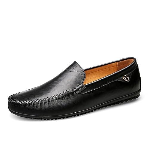 Mocasines Cuero Hombre Verano Artesanal Hilo de Coser Classic Oficina Viajar Zapatos Formales: Amazon.es: Zapatos y complementos
