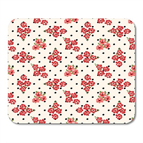 Decoupage Pad (Nakamela Mouse Pads Branch Red Abstract Ornamental Floral Pattern Fabrics for Decoupage and Other Backcloth Dots Mouse mats 9.5