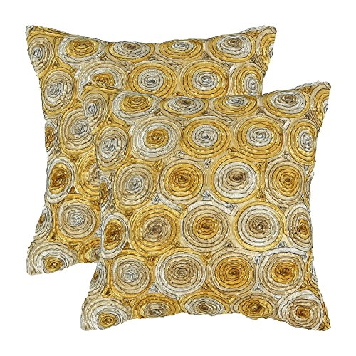 pack-of-2-calitime-cushion-covers-throw-pillow-cases-shells-18-x-18-inches-gradient-stereo-roses-flo