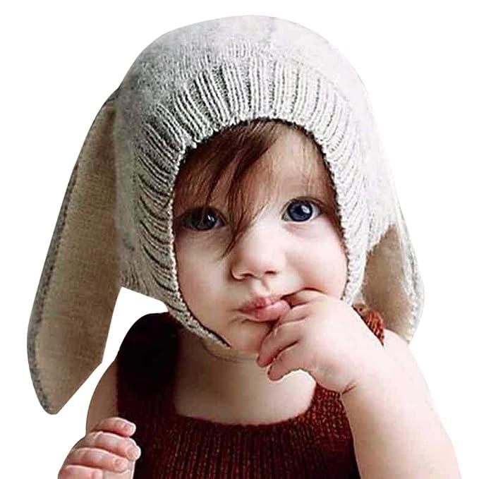 Schnäppchen für Mode toller Rabatt für hohe Qualität CHIC-CHIC 0-5 Jahre Säugling Baby Strick Mütze Fleece Kappe Kaninchen Ohren  Hut Hase Kinder Fotografie Props Winter Herbst