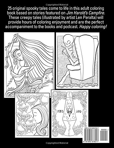 Amazon The True Ghost Story Adult Coloring Book Inspired By Jim Harolds Campfire 9781945676017 Harold Len Peralta Books