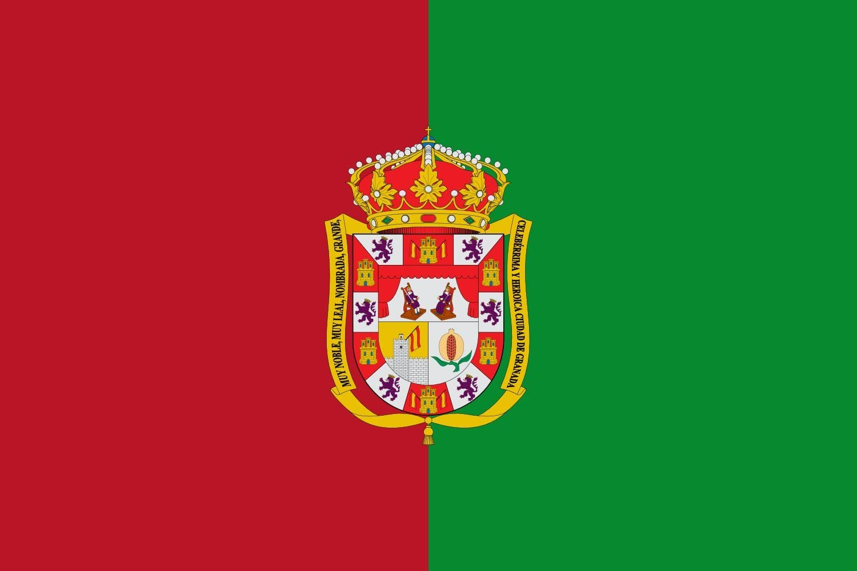 magFlags Bandera Large Provincia de Granada Andalucía | Bandera Paisaje | 1.35m² | 90x150cm: Amazon.es: Jardín