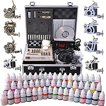 Amazon.com: AMPERSAND SHOPS Professional Complete Tattoo Kit with ...