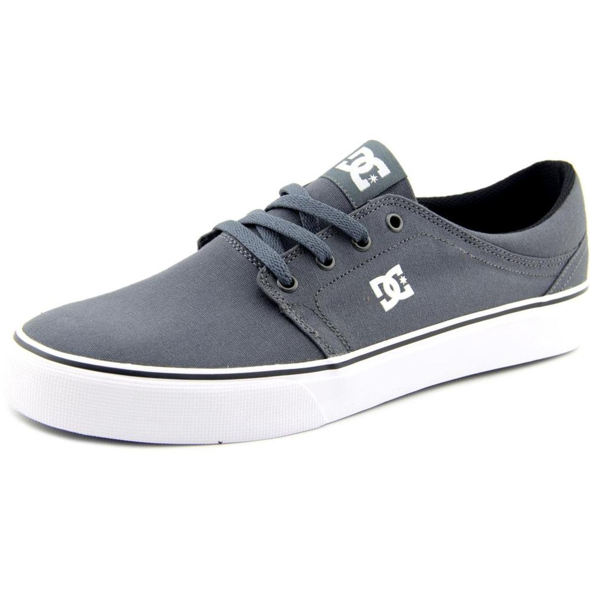 DC Men's Trase TX Skate Shoe, Grey/Grey/White, 10 M US