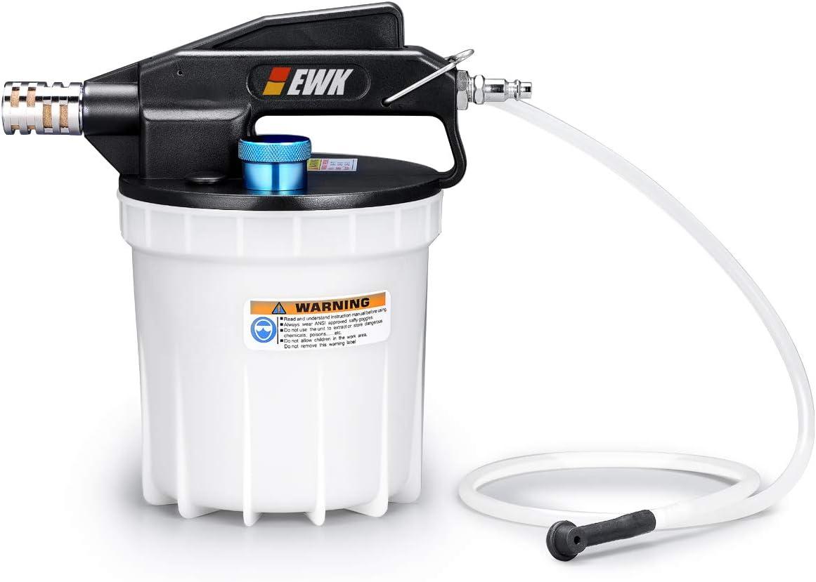 EWK 2 Liters Pneumatic Brake Bleeder Kit Vacuum Brake Bleeder Oil Fluid Extractor Pump