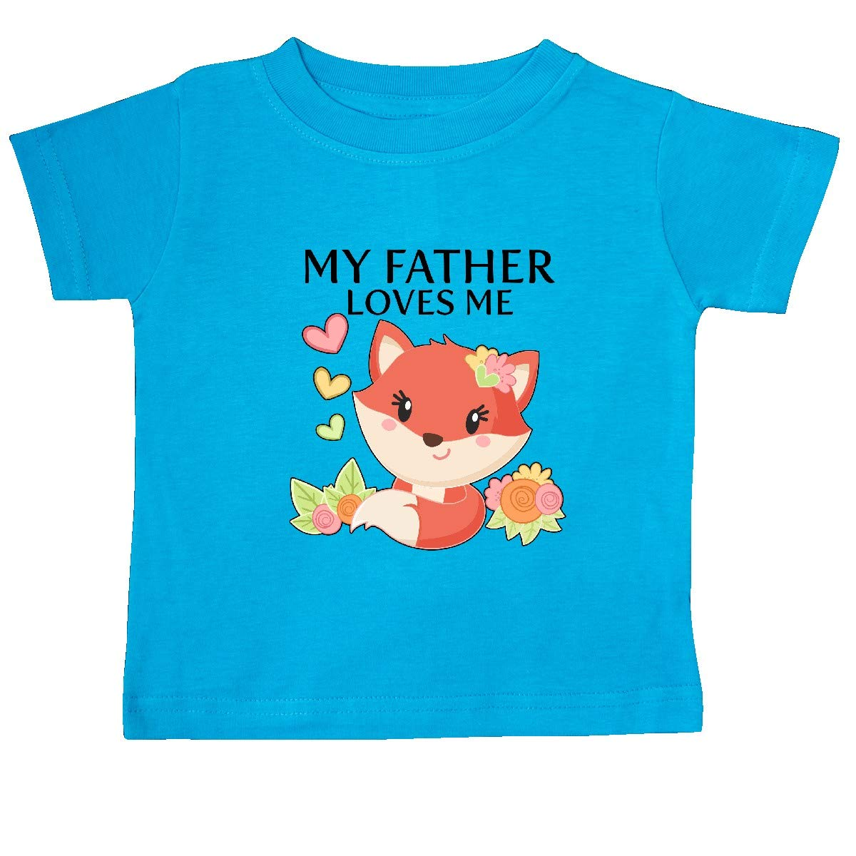 inktastic My Father Loves Me Little Fox Baby T-Shirt