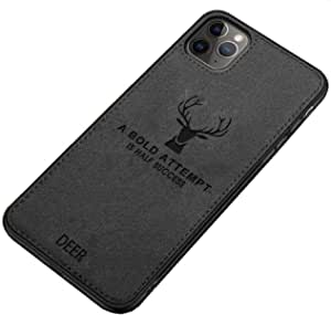 Fabric Cover For iPhone 11 Pro From Deer - Black