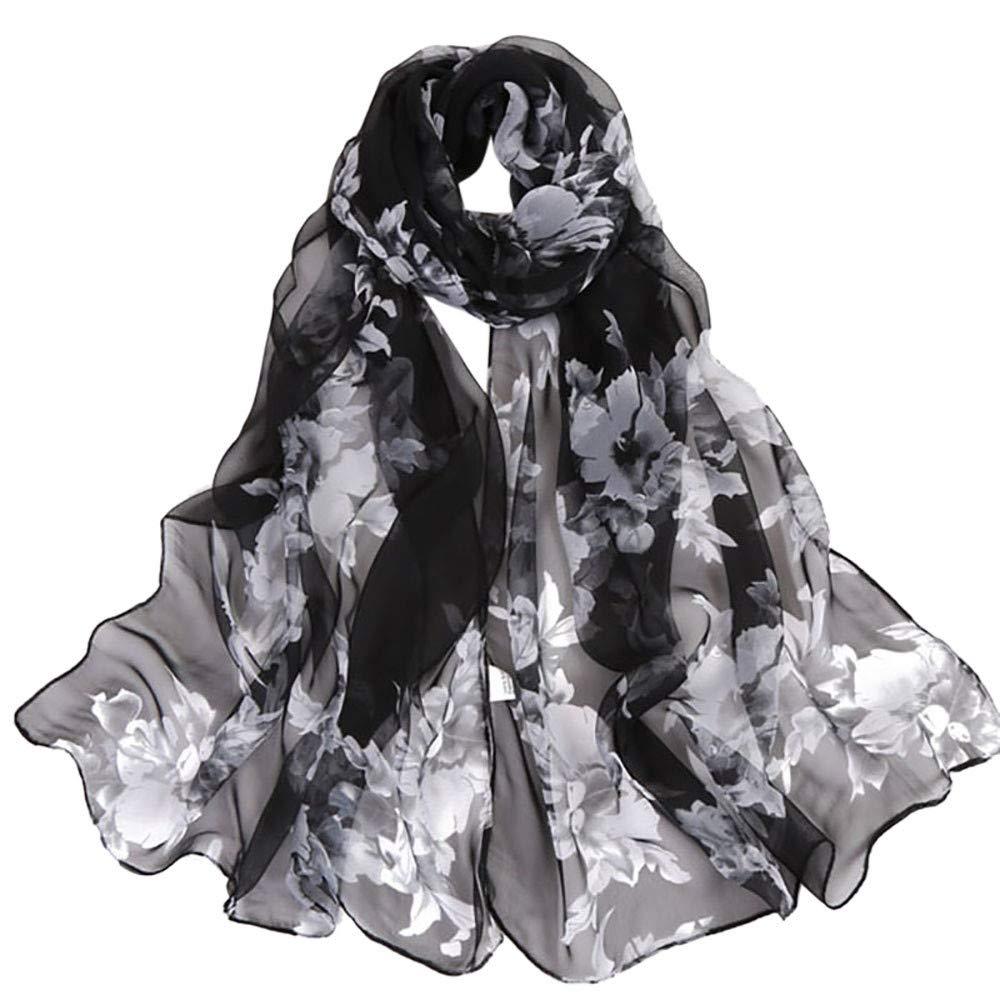 Yvelands Damen Schal Schals Mode Pfirsichbl/üte Drucken Lange Weiche Wrap Schal