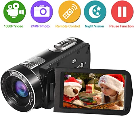 Videocamara Videocámara Cámara de Video Full HD 1080p 24.0MP 18x ...