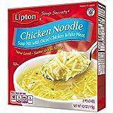 Cheap Lipton Soup Secrets Instant Soup Mix, Chicken Noodle 4.2 oz (Pack of 12, 2 Pouches Each)