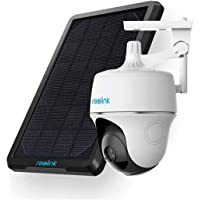 Reolink Wireless Pan Tilt Solar Powered WiFi Security Camera System w/Rechargeable Battery Outdoor Home Surveillance, 2…
