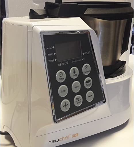 Top SHOP New Chef Mix 7245 Robot multifunción digital 2 L 9 velocidad 1300 W Blanco: Amazon.es: Hogar