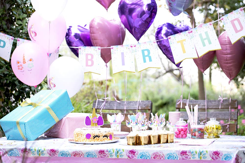 Unicorn Party Supplies set - 238 PCS - 18 Serves | Unicorn Decoration | Tableware | Favors | Balloons | Free Bonus 10