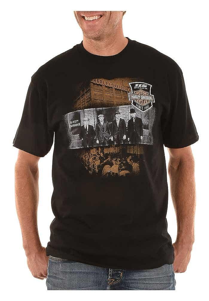 Harley-Davidson Men/'s 115th Anniversary Model One Short Sleeve T-Shirt Blue