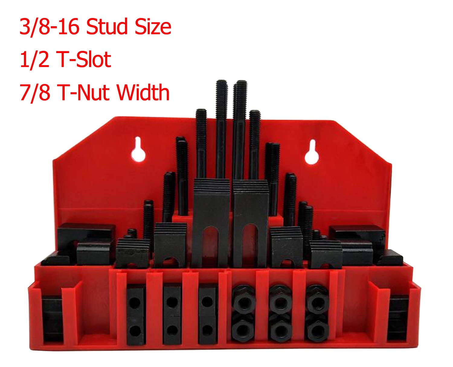58Pc T-Slot Clamping Kit Mill Machinist Set Table Slots: 1/2'' by LLDSIMEX