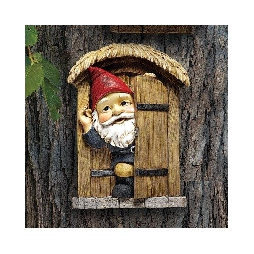 The Door Gnome Garden Statue Garden Sculptures Garden Statues Gnome Statues Yard Statues Lawn Decor Home Garden Decor (Roaming Travelocity Gnome)