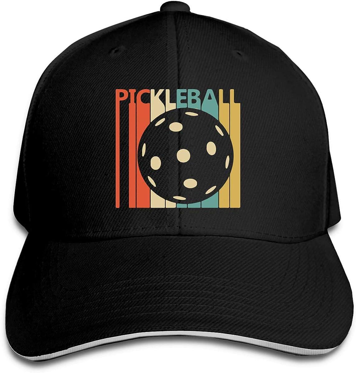 Vintage Retro Pickleball Outdoor Snapback Sandwich Cap Adjustable Baseball Hat Trucker Cap