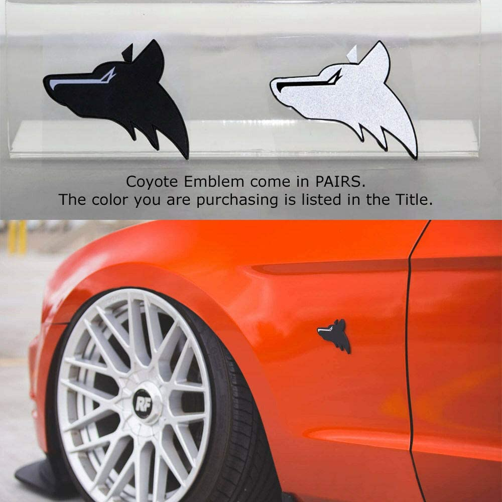 Black 2Pack 5.0 Coyote V8 Emblem for Ford Mustang F150 F250 F350 Badge Decals