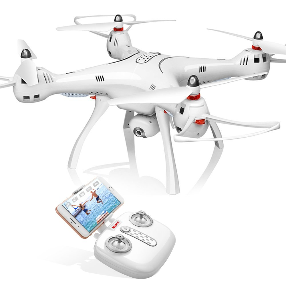 Syma GPS FPV RC Drone with Camera Live Video and GPS Return Home Quadcopter