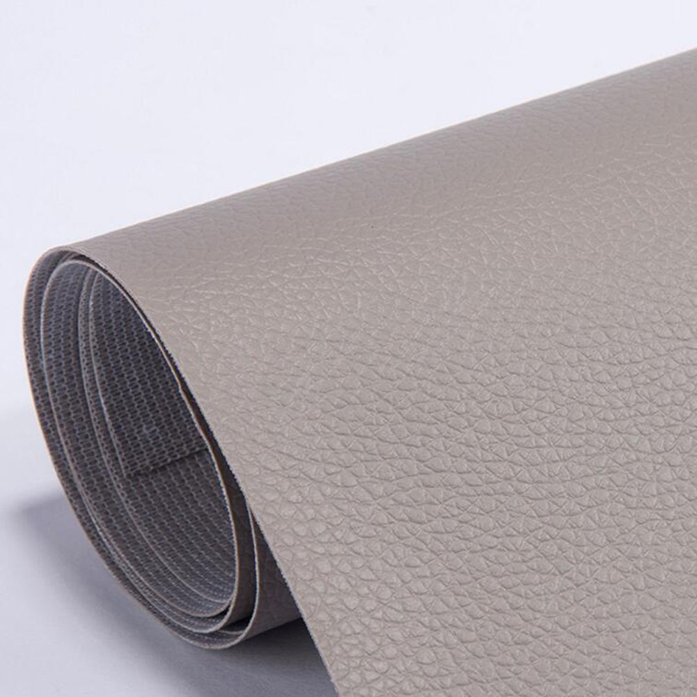 NW 54.0'' x 39.4'' Leather Repair, Sofa Leather Repair, Car Seat Leather Repair Patch-Adhesive Backing-First Aid for Sofa Car Seat (Gray)