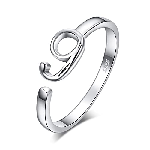 JewelryPalace Lucky Number Zero One Two Three Five Six Seven Eight Nine Birth Anniversary Adjustable Open Ring 925 Sterling Silver