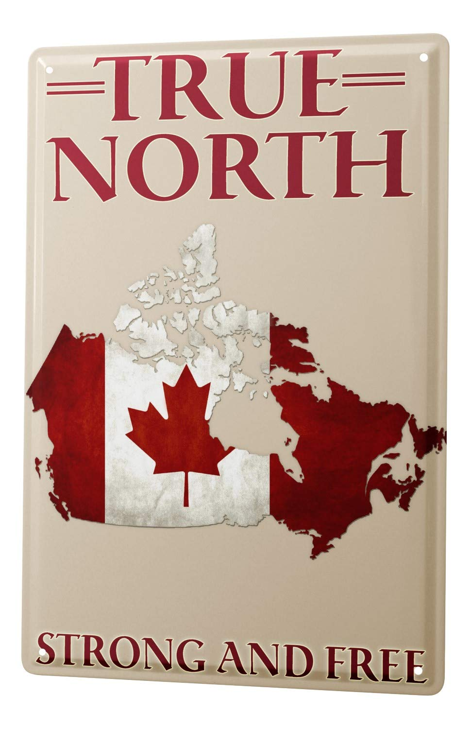 Tin Sign Globetrotter Canada's North Leotie