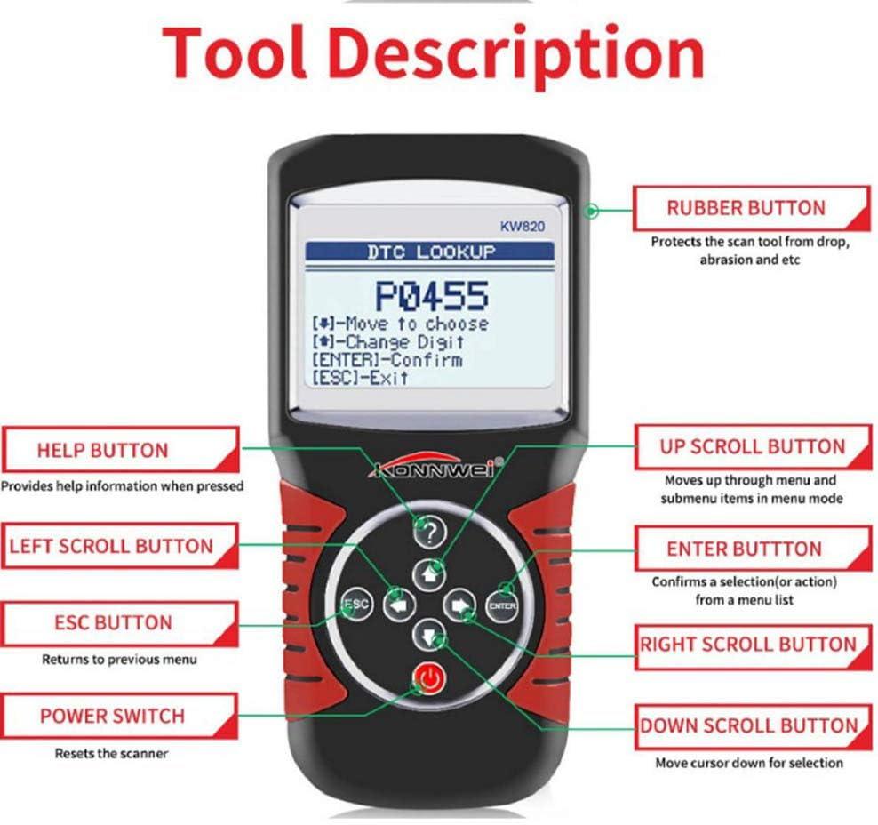 SRS Getriebe-EPB Motor MAKE FINE Codeleser F/ür OBD2-Diagnoseger/äte F/ür Kfz-Fehlerdiagnose Alle System- // Moduldiagnosen F/ür ABS /Öl-Reset