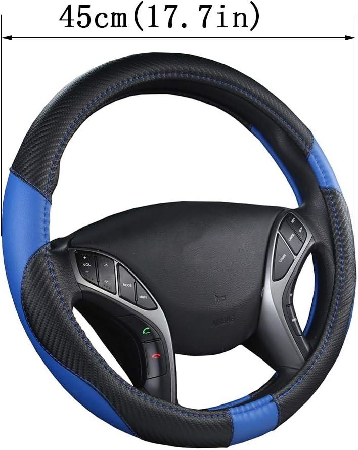 Auto Lenkradbezug Aus Mikrofaser Leder Anti Slip Für Scania R P Und S Suv Bus Rv Lkw Bagger Bulldozer Kran Blau 45cm Küche Haushalt