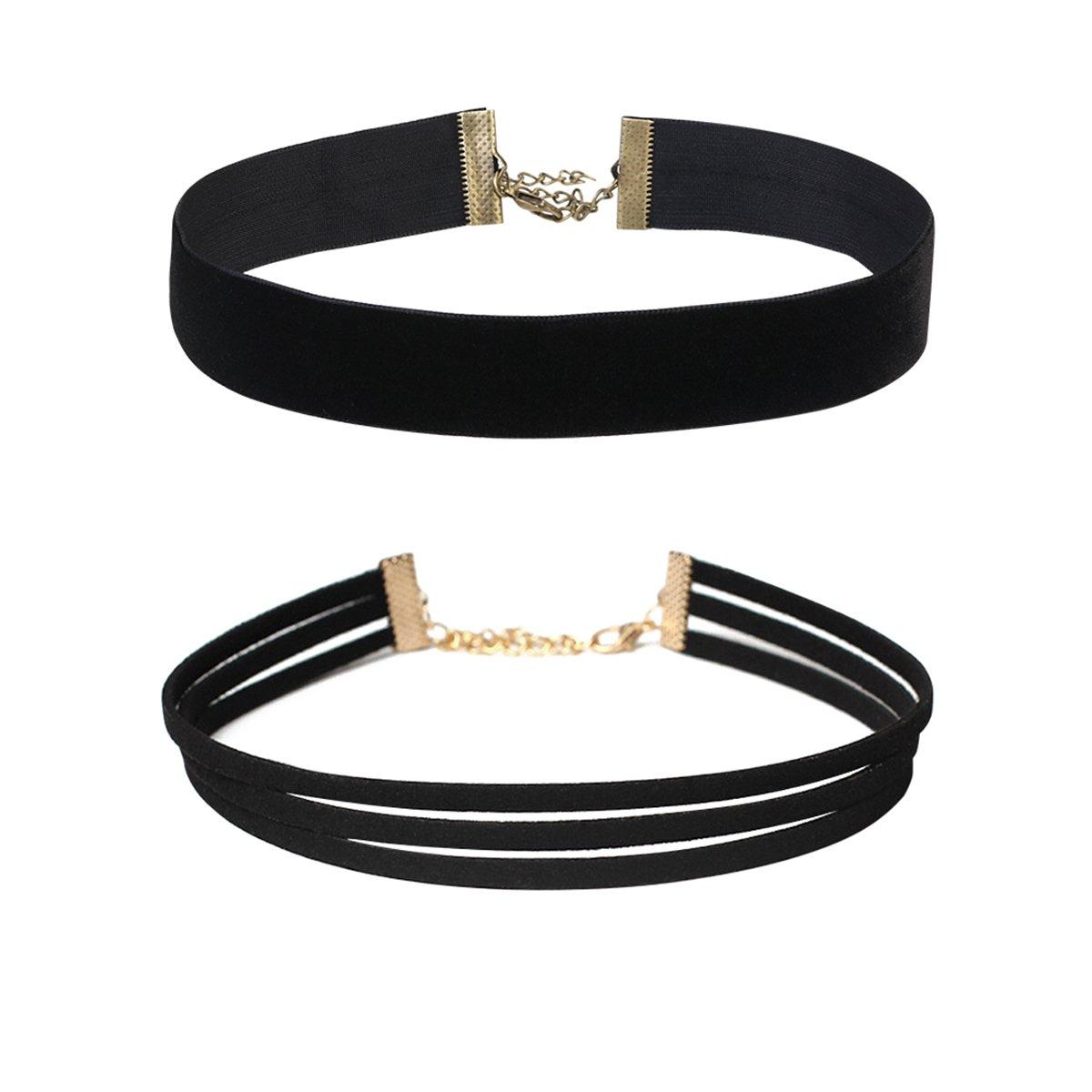 OULII 12/Unidades Chocker Collar Cadenas chockers Cuello Bandas Collar Tattoo Collar Collar