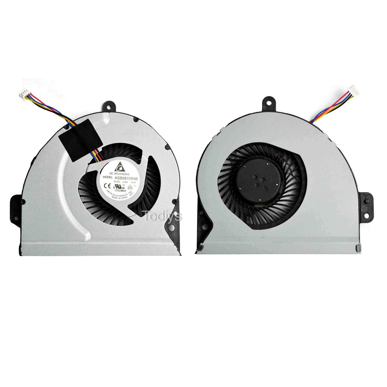 CPU Cooling Fan para Asus A43 A43J A43S A53 A53E A53J A53...