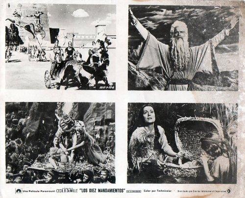 Ten Commandments Photo - Original Photo The Ten Commandments Charlton Heston Yul Brynner Cecil B. DeMille