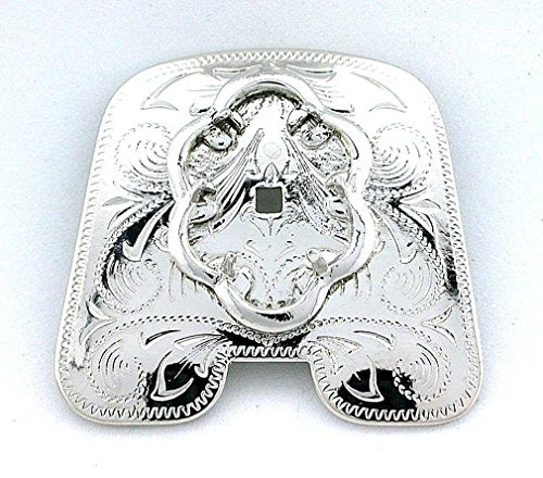 Rhodium Plated 18x13 18mm x 13mm Cabochon Chaps Pant Bolo Tie Prong Mounting cf2
