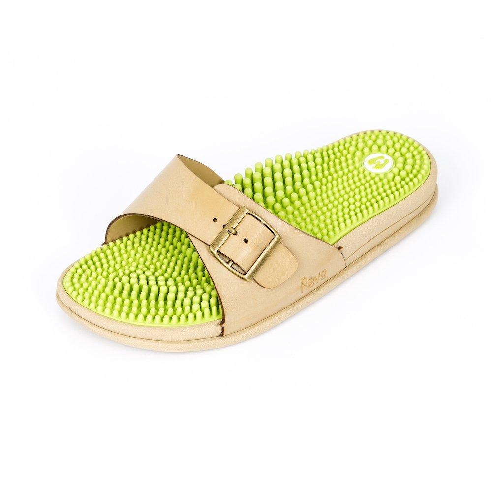 Revs, I sandali che massaggiano il piede seguendo i principi della riflessologia Verde