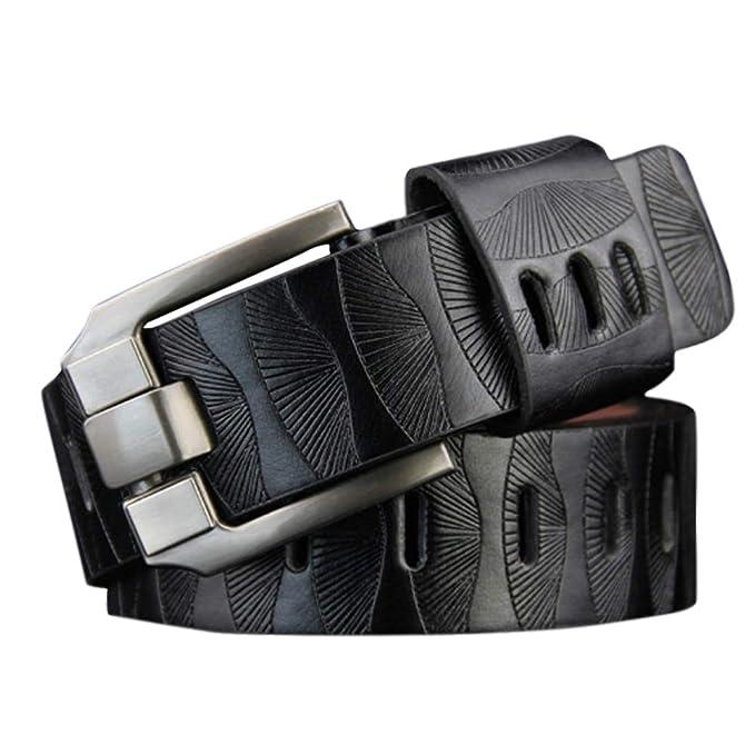 Cinturón Cuero Hombre, SUNNSEAN Cinturón Para Hombres ...