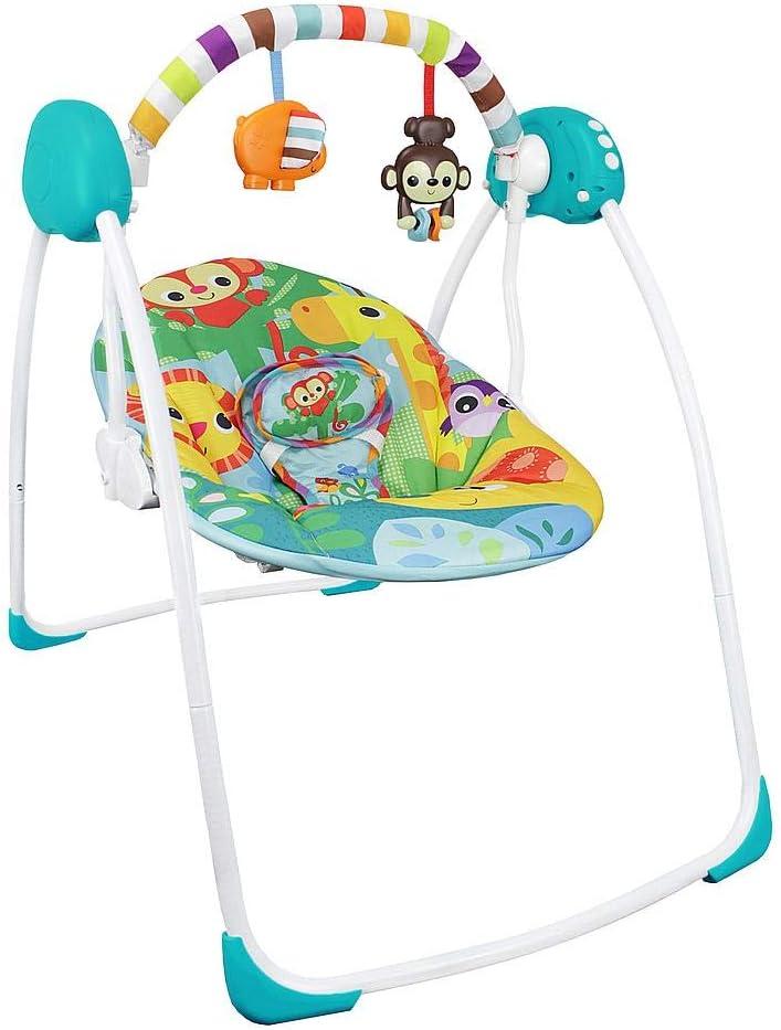 Sotech Columpio Eléctrico para Bebés, Columpio de bebé con vibración, Cuna Mecedora Automatica, Hamaca Bebe, Mecedora Bebe, 80 x 76 x 54 cm