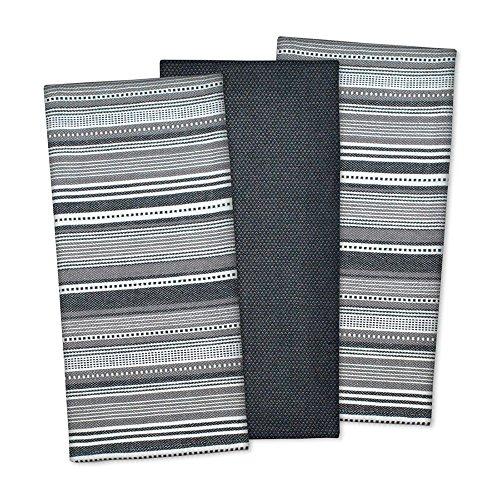 Three Piece Urban Stripe Black Dishtowel - Stripe Dish Towel 3 Piece Shopping Results