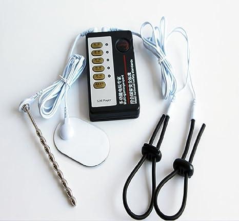 Anseke E-Stim Stimulation Accessoires Electro-Conductive Anneaux P/énis pour Homme Plug Acier Inoxydable avec C/âble /Électrique Stimulateur Massage