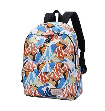 YoungSoul Mochilas escolares para juveniles - Bolsas escolares de lona estampadas - Mochila grande escolar carteras colegio Colina: Amazon.es: Equipaje