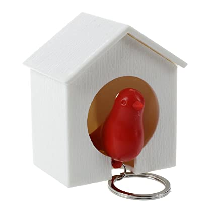 TOOGOO(R) Sostenedor de llave de casa de pajaro gorrion ...