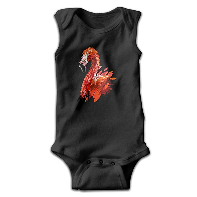 Bebé niña niño arte Oval geométrico Flamingo sin mangas Pelele Mono Negro - negro - : Amazon.es: Ropa y accesorios