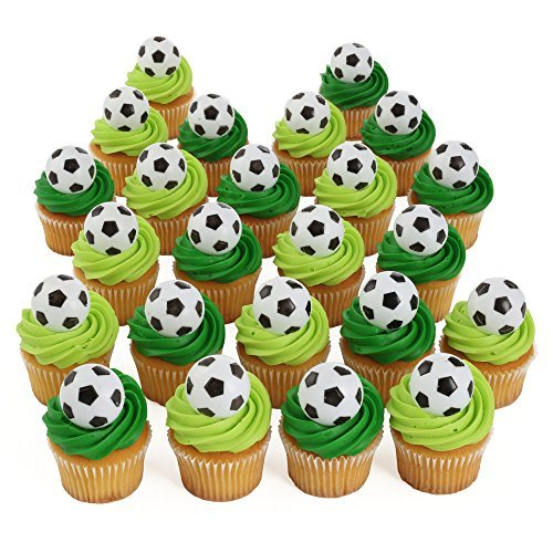 Ball Topper - Bakery Crafts Soccer 24 Cupcake Topper Rings