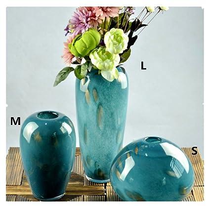 lovcry soplado florero de cristal de colores
